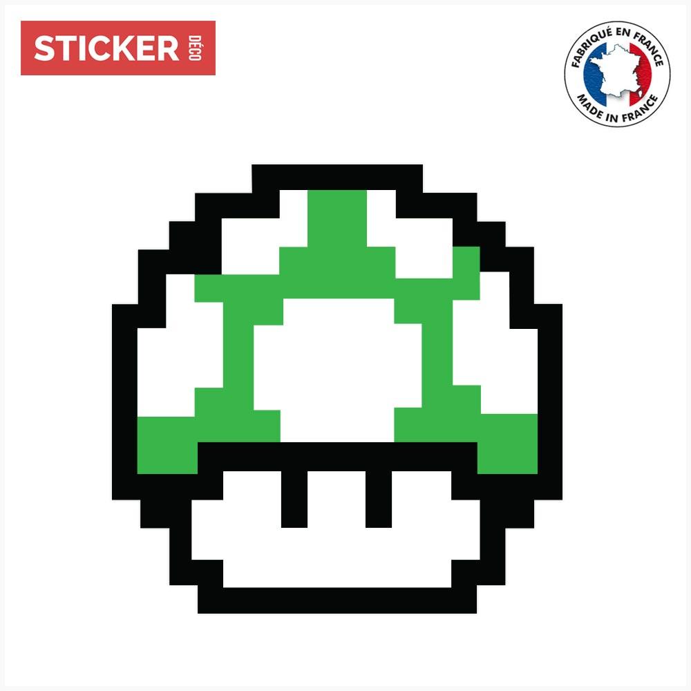 Sticker Champignon Vert Mario Stickers Mario Stickerdecofr