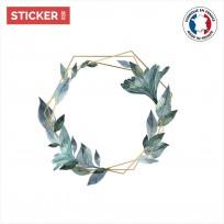 Sticker Couronne Florale