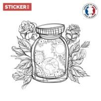 Sticker Fiole Galaxie