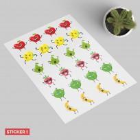 Sticker Fruits Heureux