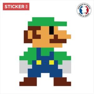 Sticker Pixel Art Luigi