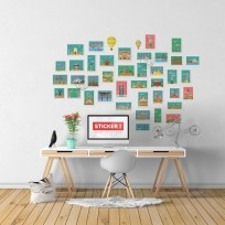 Sticker Monuments Timbres