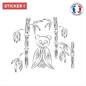 Sticker-Panda-Bambou