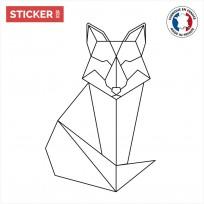 Sticker Renard Origami