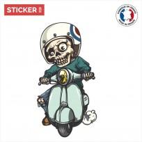 Sticker Squelette Motard