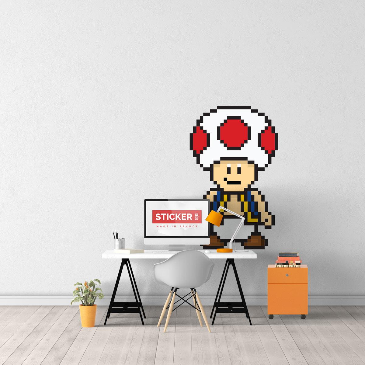 Sticker Toad Mario Stickers Mario Autocollants Stickerdecofr