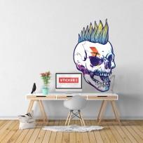 Sticker Crâne Punk