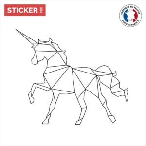 Stiker Licorne Origami