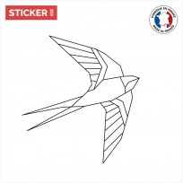 Sticker Oiseau Origami