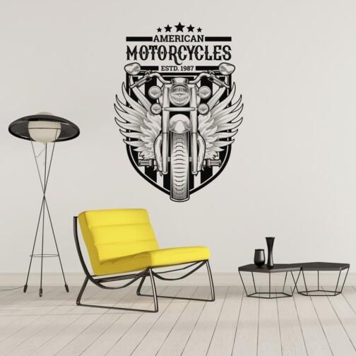 Sticker Moto Americaine