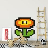 Sticker Pixel Art Fleur Mario