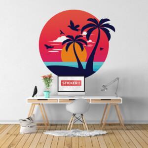 Sticker Plage Miami
