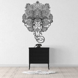 Sticker-Elephant-Mandala