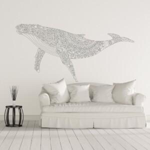 Sticker Baleine Mandala