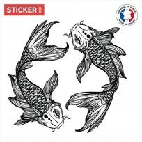 Sticker Carpe Samourai