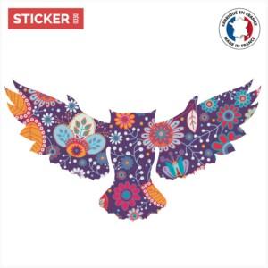 Sticker Chouette Floral