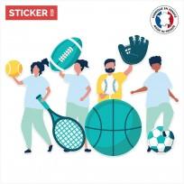 Sticker Equipe De Sport