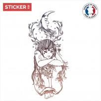 Sticker Fille De La Nuit