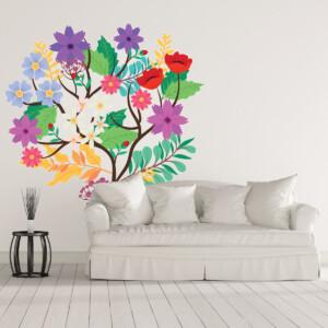 Sticker Fleurs Grimpantes
