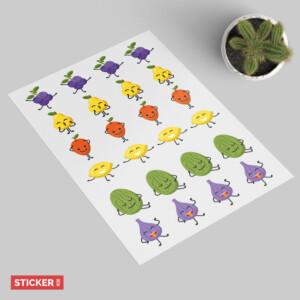 Sticker Fruits Joyeux