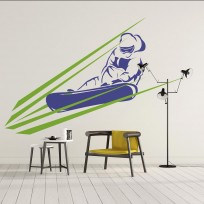 Sticker Glisse Snowboardeur