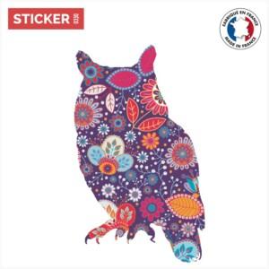 Sticker Hibou Floral