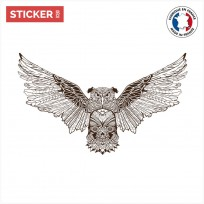 Sticker-Hibou-Mandala