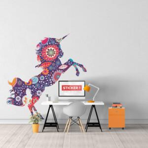 Sticker Licorne Floral