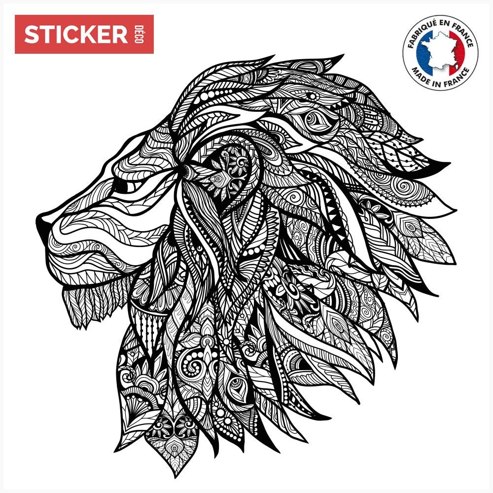 Sticker Lion Mandala Stickers Animaux Autocollants Stickerdeco Fr