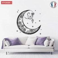 Sticker Lune Mandala