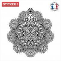 Sticker Mandala Fleurie