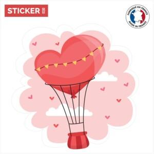 Sticker Mongolfiere Coeur