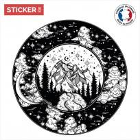 Sticker Montagne Galactique