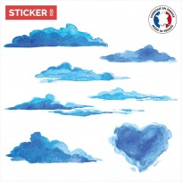 Sticker Nuages Aquarelle