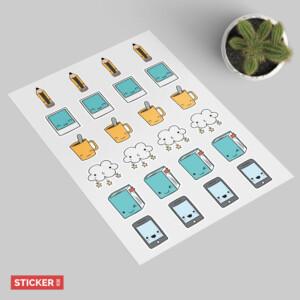 Sticker Objet Mignon