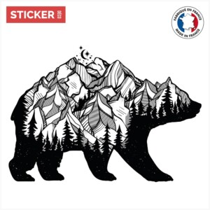 Sticker Ours Montagne