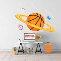 Sticker Planète Basket