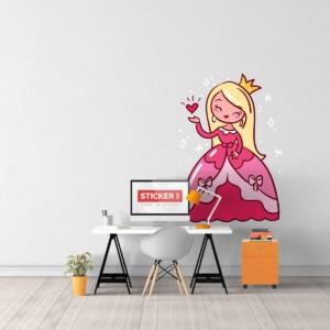 Sticker Princesse Rose