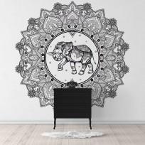 Sticker Rosace Elephant Mandala