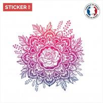 Sticker Rose Rosace Mandala