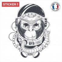 Sticker Singe Astronaute