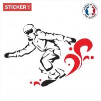 Sticker Snow Glissade