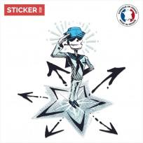 Sticker Squelette Matelot