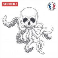 Sticker Squelette Poulpe