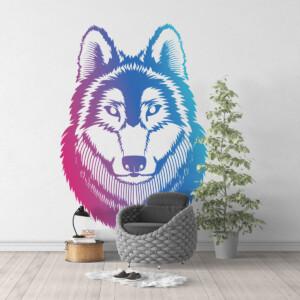 Sticker Tête De Loup