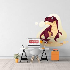 Sticker T-rex Rouge
