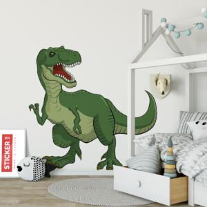 Sticker T-rex Vert