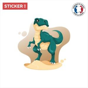 Sticker T-rex Vert Bleu