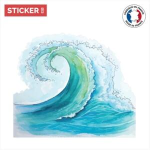 Sticker Vague Aquarelle