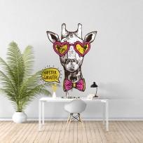 Sticker hipster girafe